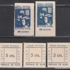 Sellos: CONSELL MUNICIPAL. ASSISTENCIA SOCIAL, PREMIÁ DE MAR, BARCELONA, (AL.1,1B, 3, 3S). Lote 254736135
