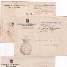 Sellos: SOBRE Y FRANQUICIAS GENERALITAT CATALUNYA. Lote 255609965