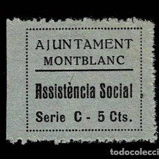 Sellos: GG GUERRA CIVIL MONTBLANC ASSISTENCIA SOCIAL FESOFI Nº 9 SIN FIJASELLOS. Lote 255661015