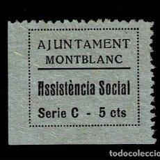 Sellos: GG GUERRA CIVIL MONTBLANC ASSISTENCIA SOCIAL FESOFI Nº 9 SIN FIJASELLOS.. Lote 255661190