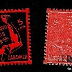 Sellos: GG GUERRA CIVIL CARAVACA SOCORRO ROJO INTERNACIONAL VARIEDAD PARCIALMENTE CALCADO FESOFI Nº 1A D. 10. Lote 255663325