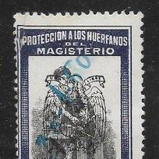 Sellos: PROTECCION A LOS HUERFANOS, 1 PTA, SOBRECARGA ESCUDO AGUILA.- VER FOTO. Lote 255932335