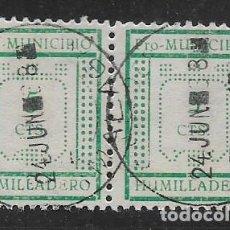 Sellos: HUMILLADERO-MALAGA- 5 CTS.- PAREJA TIPO I Y II--PRO MUNICIPIO-- VER FOTO. Lote 255937795