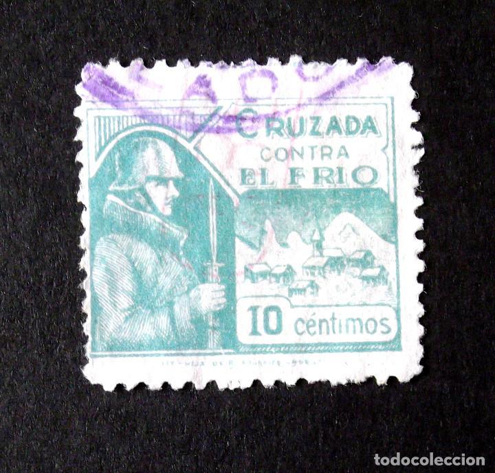 CRUZADA CONTRA EL FRIO, 5, USADO. (Sellos - España - Guerra Civil - De 1.936 a 1.939 - Usados)