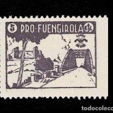 Sellos: 120 GUERRA -CIVIL FUENGIROLA FESOFI TIPO Nº 3 PRUEBA EN PAPEL DELMEINA EN COLOR VIOLETA NO CATALOGA. Lote 257603960