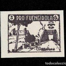 Sellos: 120 GUERRA -CIVIL FUENGIROLA FESOFI TIPO Nº 3 PRUEBA SIN DENTAR EN PAPEL DELMEINA EN COLOR VIOLETA. Lote 257604740