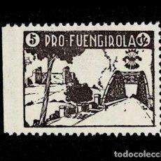Sellos: 0120 GUERRA -CIVIL FUENGIROLA FESOFI TIPO Nº 3 PRUEBA EN PAPEL DELMEINA EN COLOR PIZARRA NO CATALOG. Lote 257604945