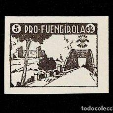 Sellos: 0120 GUERRA -CIVIL FUENGIROLA FESOFI TIPO Nº 3 PRUEBA EN PAPEL DELMEINA SIN DENTAR, EN COLOR PIZARRA. Lote 257605220