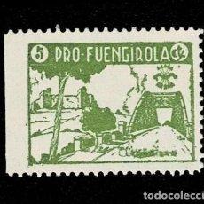 Sellos: 120 GUERRA -CIVIL FUENGIROLA FESOFI TIPO Nº 3 PRUEBA EN PAPEL DELMEINA EN COLOR VERDE NO CATALOGADO. Lote 257605410