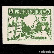 Sellos: 120 GUERRA -CIVIL FUENGIROLA FESOFI TIPO Nº 3 PRUEBA SIN DENTAR EN PAPEL DELMEINA EN COLOR VERDE N. Lote 257605625