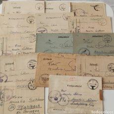 Francobolli: II GUERRA MUNDIAL LOTE DE 14 CARTAS DE SOLDADOS ALEMANES FELDPOST. Lote 257814440