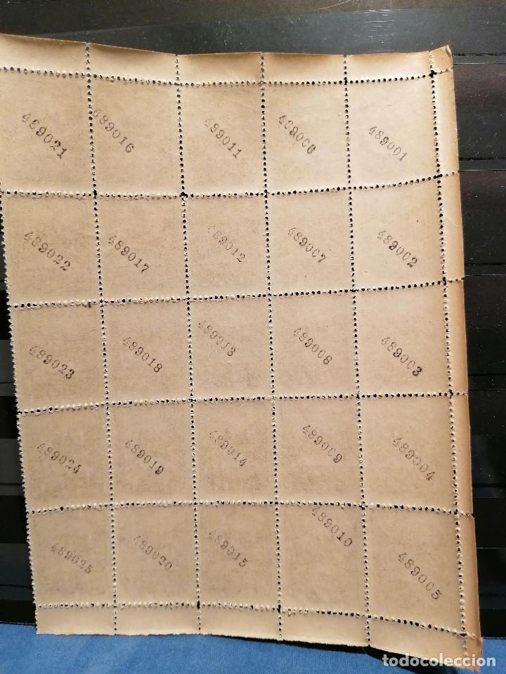 Sellos: España Asturias Guerra Civil lote sellos 25 sellos pliego hoja nuevo Edifil 6 - Foto 2 - 287851533