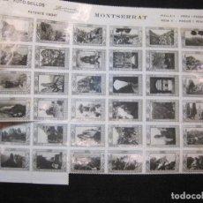 Sellos: MONTSERRAT-LAMINA CON 36 FOTO SELLOS-AÑO 1929-EDITADO POR ZERKOWITZ-VER FOTOS-(K-2479). Lote 258778560
