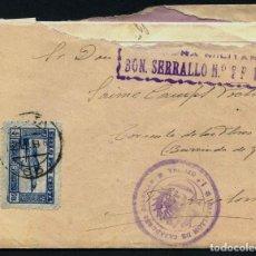 Francobolli: GUERRA CIVIL POST, CARTA, CIRCULADA DESDE CEUTA A BARCELONA, 1939, FRANQUICIA MILITAR. Lote 258794485