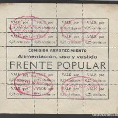 Sellos: TALAVERA DE LA REINA,- FRENTE POPULAR.- HOJITA CON 16 SELLOS- VER SELLOS. Lote 259024735