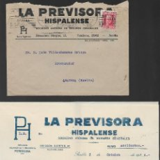 Sellos: CARTA Y SOBRE CIRCULADA DE SEVILLA A ARACENA-HUELVA- PUBLICITARIA- VER FOTO. Lote 259057235