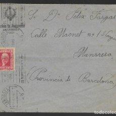 Sellos: CARTA CIRCULADA ZARAGOZA-BATALLON DE PONTONEROS, A BARCELONA- VER FOTO. Lote 259057605