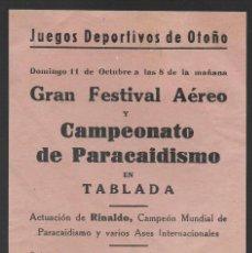 Sellos: OCTAVILLA, CAMPEONATO PARACAIDISMO EN TABLADA- LA HISPANO AVIACION.- VER FOTOS. Lote 259058775