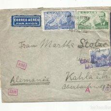 Sellos: CIRCULADA Y ESCRITA 1941 DE LAS PALMAS A ALEMANIA CON CENSURA NAZI. Lote 259869325