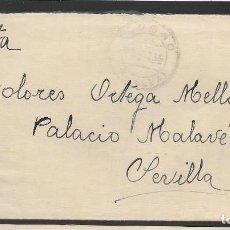 Sellos: CARTA Y SOBRE.- CIRCULADA DE OLOSMO--HUELVA- A SEVILLA, VER FOTOS. Lote 260272365