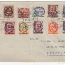 Sellos: 1937 CARTA FRANQUEADA CON SERIE PATRIOTA LOCAL DE SAN SEBASTIAN. Lote 260278015