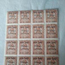Sellos: GUERRA CIVIL . 1937. MÁLAGA LIBERADA.NUEVOS GOMA Y SIN CHARNELA. Lote 260317895