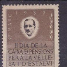 Sellos: FC280- VIÑETA II DIA DE LA CAIXA DE PENSIONS 1937 ** SIN FIJASELLOS. Lote 260710140