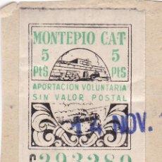 Sellos: FC282- PARAFISCALES MONTEPÍO CAT 5 PTAS X 50 SELLOS. Lote 260714420