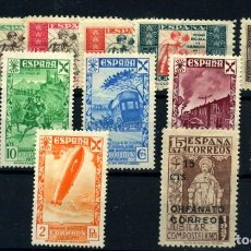 Sellos: ESPAÑA (BENEFICENCIA- HUÉRFANOS DE CORREOS) Nº 1/6, NE 33, 21/6. AÑO 1934/38. Lote 260846170