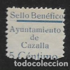 Sellos: CAZALLA, 5 CTS- SELLO BENEFICO- LINEA ANCHA- VER FOTO. Lote 261163105