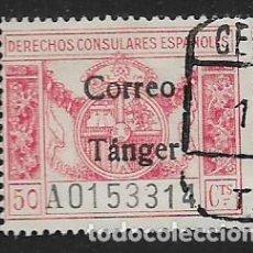 Sellos: TANGER.- DRECHO CONSULAR.- 50 CTS- CORREO TANGER-- VER FOTO. Lote 261163975