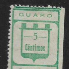 Sellos: GUARO-MALAGA- 5 CTS,- CARIDAD- VER FOTO. Lote 261164405
