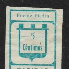 Sellos: FUENTE PIEDRA-MALAGA- 5 CTS, SIN DENTAR-- CARIDAD- VER FOTO. Lote 261164800