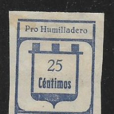 Sellos: HUMIDALLERO-MALAGA- 25 CTS, SIN DENTAR-- CARIDAD- VER FOTO. Lote 261164935