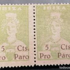 Sellos: 1936.G,CIVIL, IBIZA.SELLO LOCAL, DIOSA TANIT 5 CTS .PAREJA **.MNH ( 21-391 ). Lote 261238275