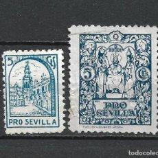 Sellos: GUERRA CIVIL SEVILLA USADOS - 1/29. Lote 261278765