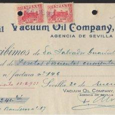 Sellos: SEVILLA, PAGO VACUUM OIL COMPANY, S.A. -SELLO DE CORREOS Y BENEFICO.- VER FOTO. Lote 261322420
