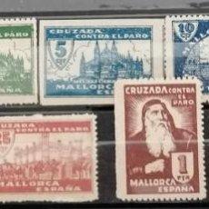 Sellos: 1936.G,CIVIL, CRUZADA CONTRA EL PARO. MALLORCA **.MNH ( 21-432). Lote 261580780