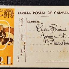 Francobolli: GUERRA CIVIL TARJETA POSTAL DE CAMPAÑA SRI MORATA 1938. Lote 261599840
