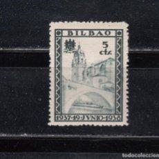 Sellos: BILBAO. 1937-19 JUNIO. 1938. 5 CTS.. Lote 261687350