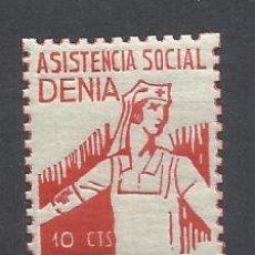 Sellos: ASISTENCIA SOCIAL DENIA ALICANTE 10 CTS NUEVO**. Lote 261800640