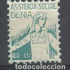 Sellos: ASISTENCIA SOCIAL DENIA ALICANTE 25 CTS NUEVO*. Lote 261800795