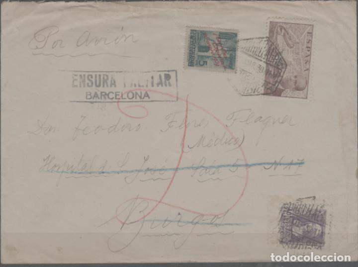 LOTE A-CARTA SELLOS GUERRA CIVIL CENSURA MILITAR BARCELONA (Sellos - España - Guerra Civil - De 1.936 a 1.939 - Cartas)