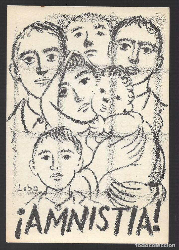 POSTAL.-ANTONIO GAVINA- ¡AMNISTIA TOTAL PRESOS Y EMIGRADOS POLITICOS, VER FOTOS (Sellos - España - Guerra Civil - Locales - Cartas)