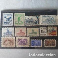 Sellos: LOTE DE SELLOS Y VIÑETAS DE LA GUERRA CIVIL.. Lote 262202380