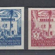 Sellos: CASA ARCEDIANO AYUNTAMIENTO D BARCELONA 1945 EDIFIL 65/68 NUEVO(*)/** VALOR 2018 CATALOGO 56.- EURO. Lote 262240325