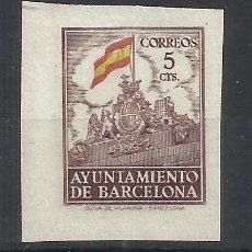 Sellos: AYUNTAMIENTO DE BARCELONA 1941 EDIFIL 29 NUEVO** VALOR 2018 CATALOGO 26.- EUROS SIN DENTAR. Lote 262240560