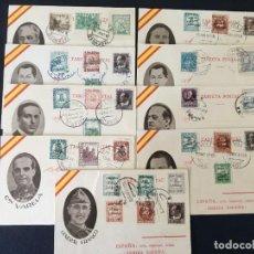 Sellos: 9 TARJETAS POSTALES NACIONALES CON SELLO PATRIÓTICOS,. Lote 262280590