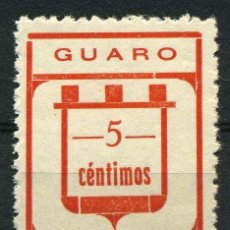 Sellos: .ESPAÑA. GUERRA CIVIL. GUARO (MÁLAGA). EDIFIL 2A. -C- MINÚSCULA. Lote 262348105