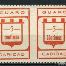 """Sellos: ESPAÑA. GUERRA CIVIL. GUARO (MÁLAGA). EDIFIL 2SPHA. PAREJA """"C"""" MINUSCULA . SIN DENTAR EN EL CENTRO.. Lote 262376415"""